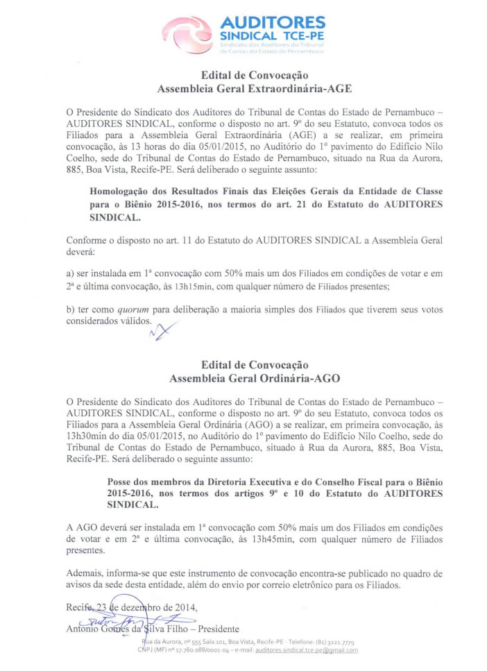 age ago sindical jan 15